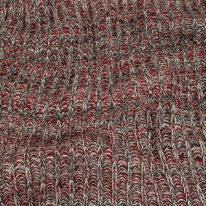 Red, Peat and White Chunky Wool Knit