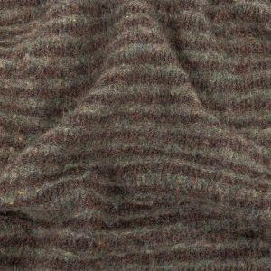 Gray and Brown Brushed Double-Faced Fuzzy Wool Knit