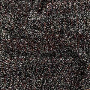 Italian Charcoal, Red and White Chunky Wool Knit