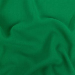 Grass Green Double Cloth Wool Crepe