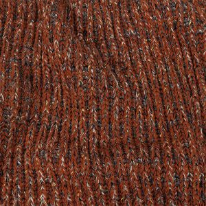 Pumpkin and Gray Chunky Sweater Knit