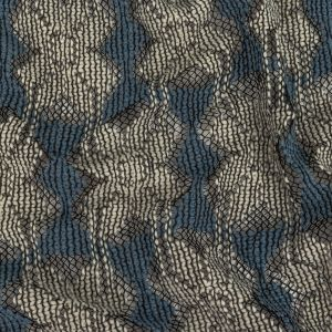Steel Blue and Brilliant White Snowflakes Lace-Like Wool Knit
