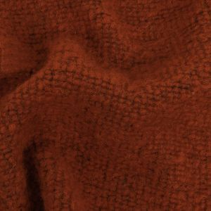 Terracotta and Stone Gray Heathered Wool Knit with Ridges