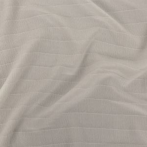 Zimmermann Coconut Milk Stretch Crinkled Silk Crepe with Woven Pinstripes