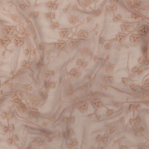 Zimmermann Blush Ditsy Floral Embroidered Crinkled Silk Chiffon with Finished Edges