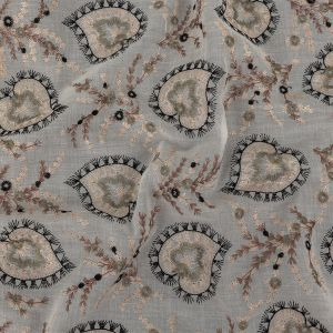 Zimmermann Snow White, Himalayan Salt and Olive Branch Embroidered Spades Cotton Voile
