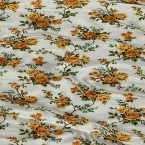 Zimmermann Thorny Yellow Floral Pleated Polyester Organdy