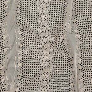 Zimmermann Pristine Geometric and Floral Striped Embroidered Cotton Eyelet