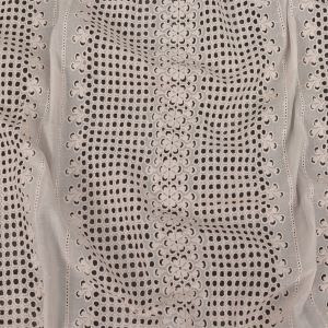 Zimmermann Pastel Parchment Geometric and Floral Striped Embroidered Cotton Eyelet