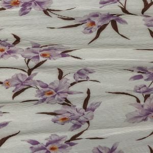 Zimmermann Lilac and Cloud Dancer Floral Pleated Polyester Organdy