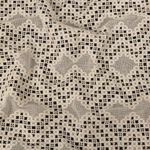 Zimmermann Ivory Geometric Cotton Blended Guipure Lace