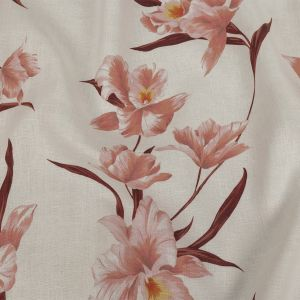 Zimmermann Lotus and Sugar Swizzle Orchids Printed Medium Weight Linen Woven with a Fused Backing