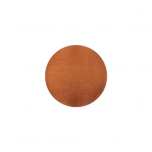 Sunburst Satin Covered Domed Silk and Metal Sew On Button - 25L/16mm