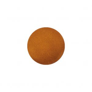 Orange Satin Covered Domed Silk and Metal Sew On Button - 25L/16mm