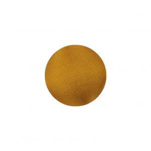 Goldenrod Satin Covered Domed Silk and Metal Sew On Button - 25L/16mm
