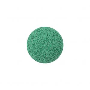 Green Pastures Creped Fabric Covered Domed Wool Blend Sew On Button - 25L/16mm