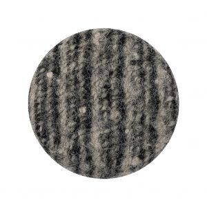 Black, Agate Gray and White Tweed Fabric Covered Wool and Metal Shank Back Button - 44L/28mm