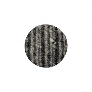Black, Agate Gray and White Tweed Fabric Covered Wool and Metal Shank Back Button - 32L/20mm