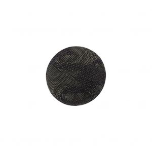 Storm Gray Jacquard Fabric Covered Domed Cotton and Metal Sew On Button - 24L/15mm