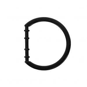 Carbon Cast Metal Rounded D-Ring - 25mm