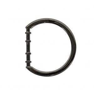 Gunmetal Cast Metal Rounded D-Ring - 25mm