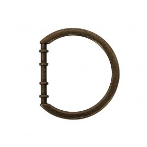 Bronze Cast Metal Rounded D-Ring - 25mm