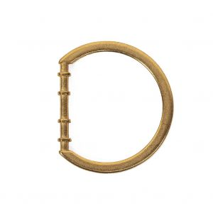 Matte Gold Cast Metal Rounded D-Ring - 25mm