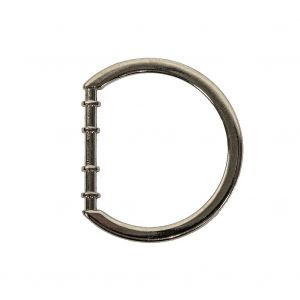 Nickel Cast Metal Rounded D-Ring - 25mm