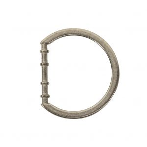 Matte Nickel Cast Metal Rounded D-Ring - 25mm