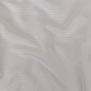 White Polyester Faille with Raised Ridges