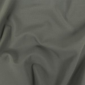 Gray Stretch Double Cloth Wool Crepe
