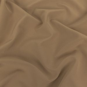 Italian Tan Stretch Creped Polyester Double Cloth
