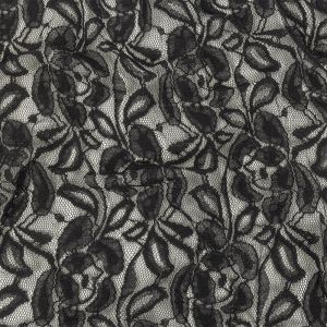 Black Floral Re-Embroidered Lace