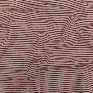 Theory Burgundy and White Alyssum Striped Linen Knit