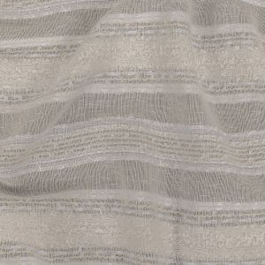 White Novelty Woven with Tactile Stripes