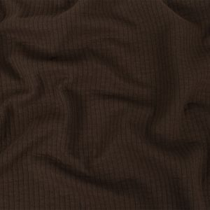 Brown Quilted Knit with Vertical Stitching