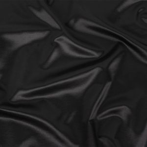 Black Satin-Faced Rayon and Cotton Twill