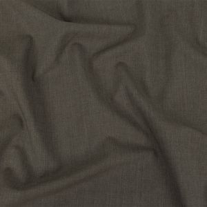 Alvin Valley Italian Heathered Gray-Brown Stretch Wool Suiting