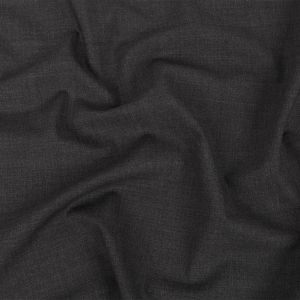 Alvin Valley Italian Heathered Licorice Stretch Wool Suiting