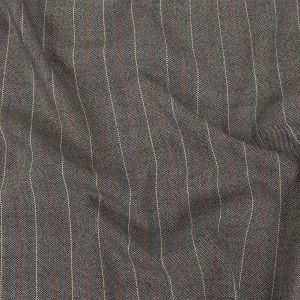 Alvin Valley Italian Navy, Red and White Striped Wool Tweed Suiting