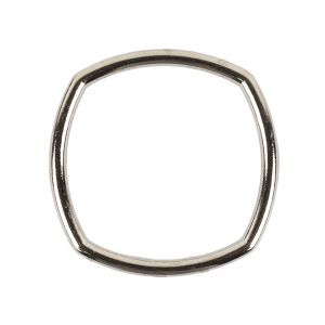 Silver Rounded Square Metal Ring - 35mm