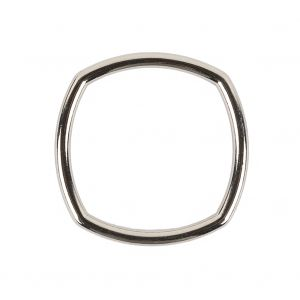 Silver Rounded Square Metal Ring - 30mm