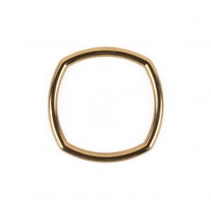 Bright Gold Rounded Square Metal Ring - 25mm