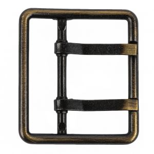 Old Gold Double Tongue Metal Buckle - 48mm
