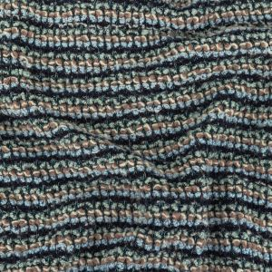 Baby Blue, Icy Morn, and Ash Rose Textured Stripes Chunky Sweater Knit