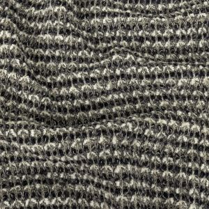 Sugar Swizzle, Gray, and Navy Textured Stripes Chunky Sweater Knit
