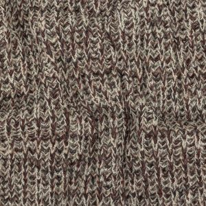 Oxblood Red, Charcoal, and White Alyssum Chunky Boucled Wool Knit