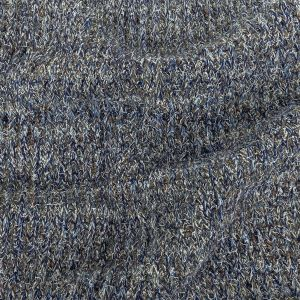 Blue and Steel Chunky Wool Sweater Knit