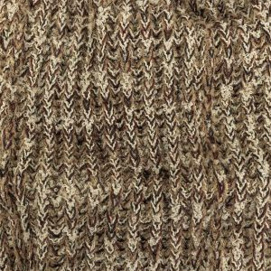 Brown Rice, Jet Stream and Red Chunky Boucled Wool Knit