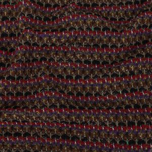 Brown, Purple and Red Striped Chunky Wool Knit